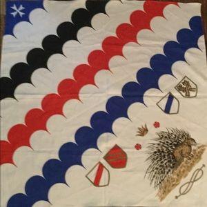 "Vintage porcupine square scarf 29"""
